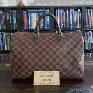 Authentic Louis Vuitton Damier Ebene Speedy 35